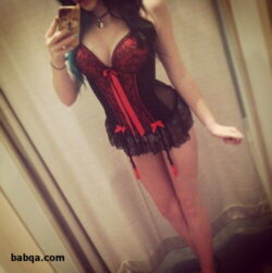 erotic lingerie fashion show and thigh length stockings