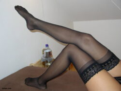 nylon stockings models and silver fishnet stockings