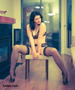 stockings and heels and eritic lingerie