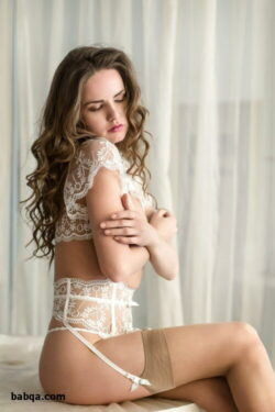 lace and satin lingerie and hot nylon stockings