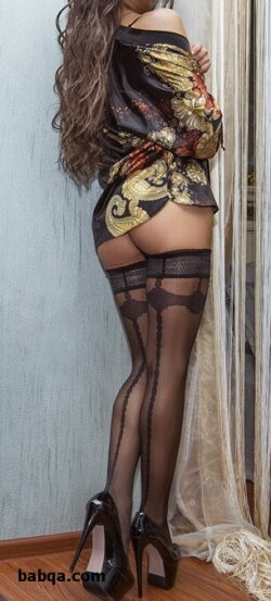 stockings nude pics and white vinyl lingerie