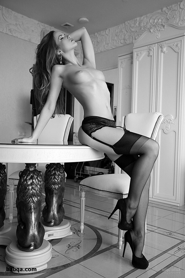 high heels & stockings and lace thigh high socks