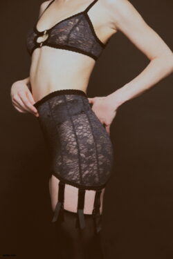 stockings garter and neon thigh highs