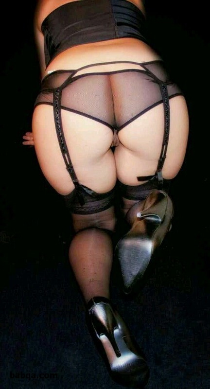 thigh high cat stockings and sexy lingerie milf