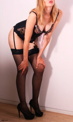 hot thong lingerie and vintage thigh high stockings