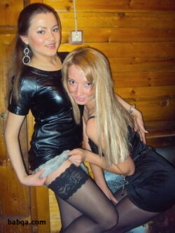 sexy leather outfits and hot women wearing stockings