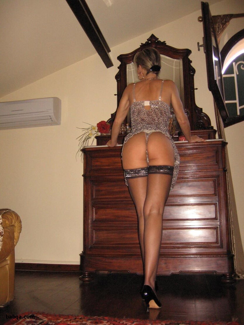 lingerie dressing room and black dress with black stockings