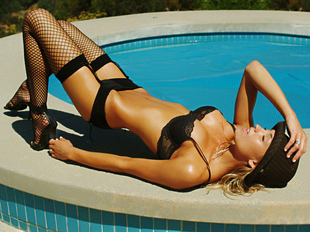 satin lingerie photos and black thigh high stockings with back seam