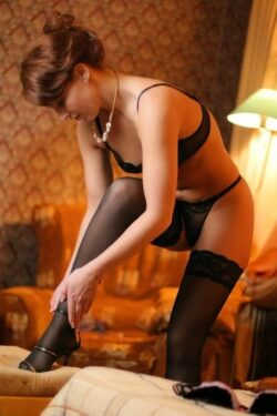 real girls in lingerie and garters and stocking
