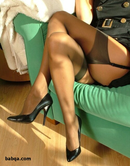 milf pics stockings and blue silk lingerie