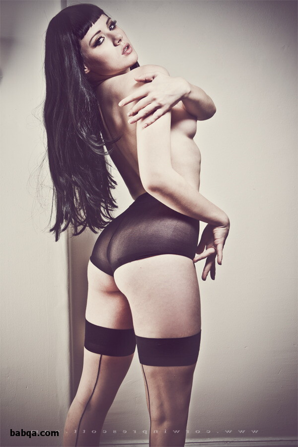 dress and thigh high stockings and thigh high fish net stockings