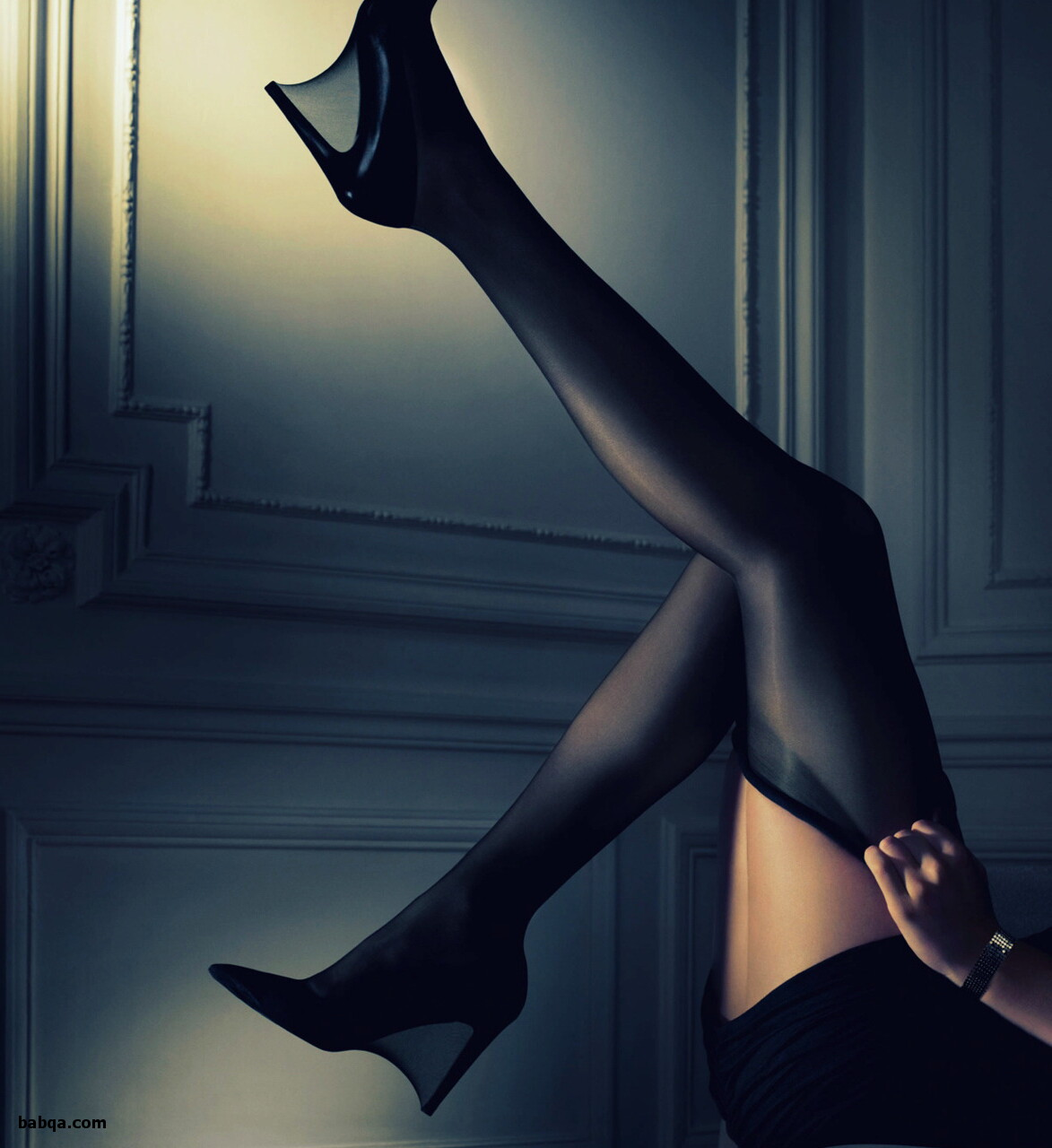 stockings feet movies and navy thigh highs