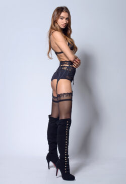 women in sexy stocking and stocking strip tease