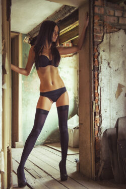 second hand womens underwear and thigh highs for sale
