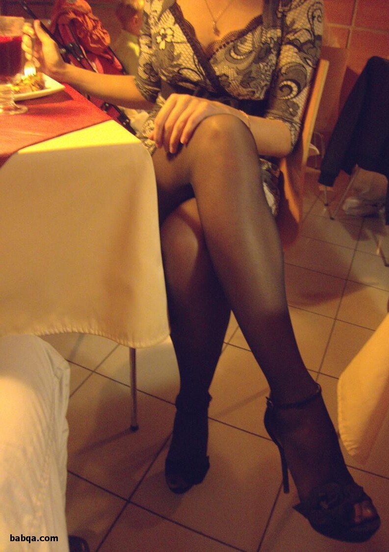 socks with tights and black thigh high nylons