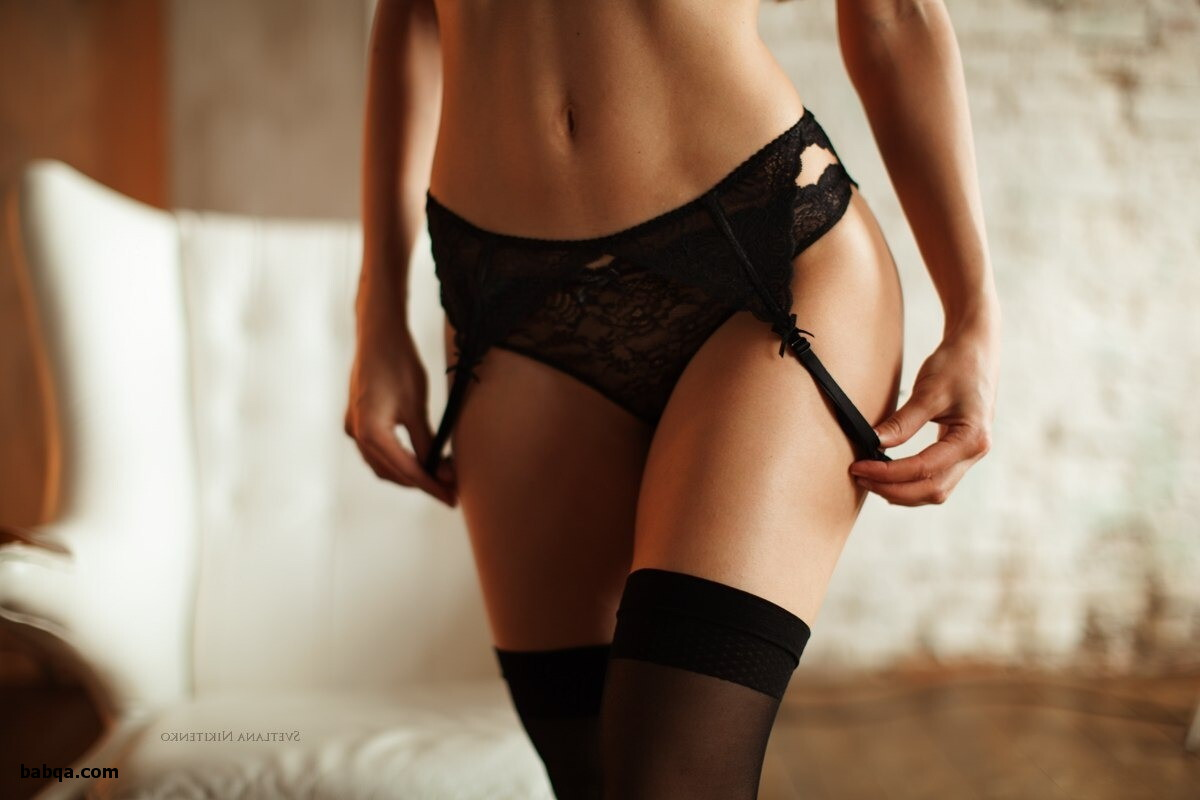 lingerie thong and stockings amateur