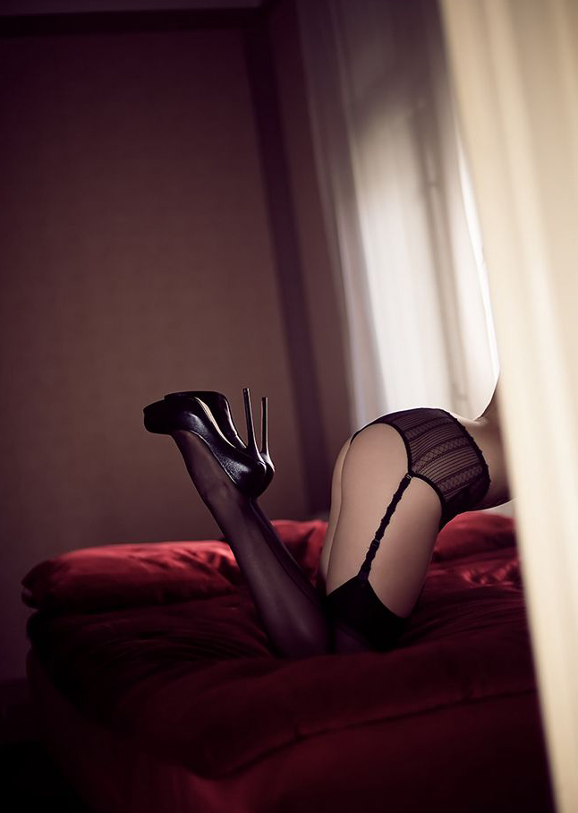 thigh lingerie and silver fishnets
