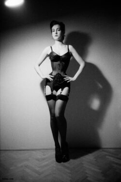 women wearing stockings and petite lingerie