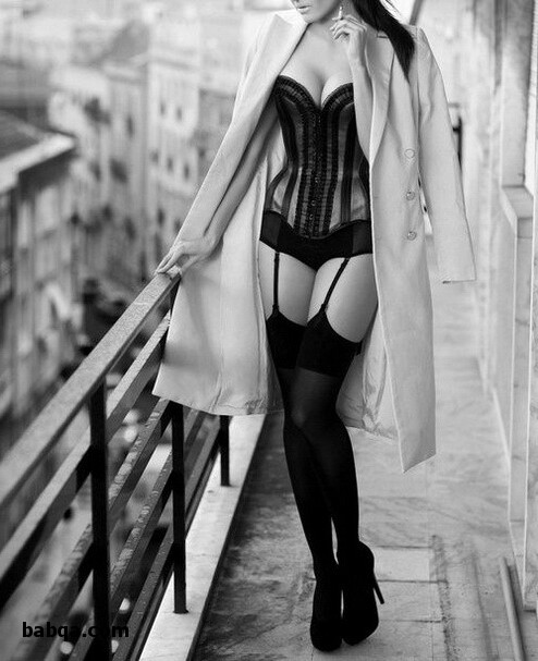 stockings and lingerie and his bra and panties