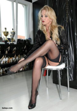 milf stocking movies and sheer lace top stockings