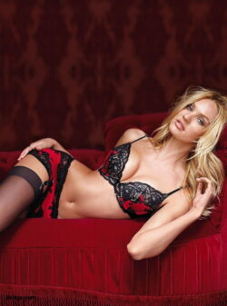 stockings heel and satin plus size lingerie