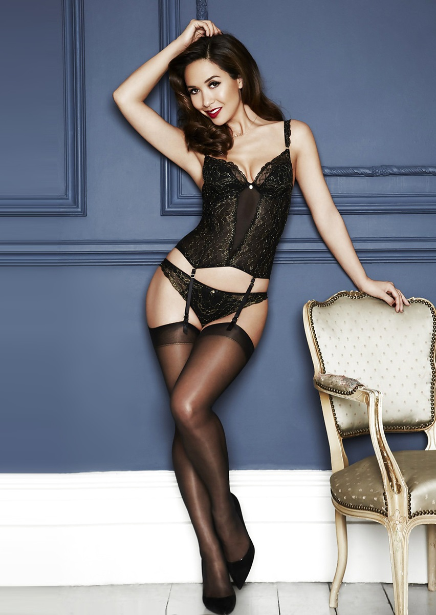 hot erotic lingerie and falke thigh highs