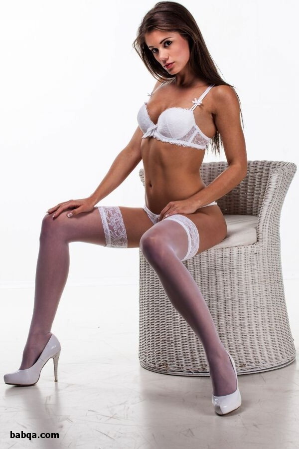 stocking and heels pics and garter top