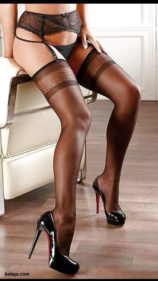 babes in stockings and high heels and sexy thigh high nylons