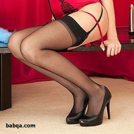 pictures of sexy stockings and black lingerie strip
