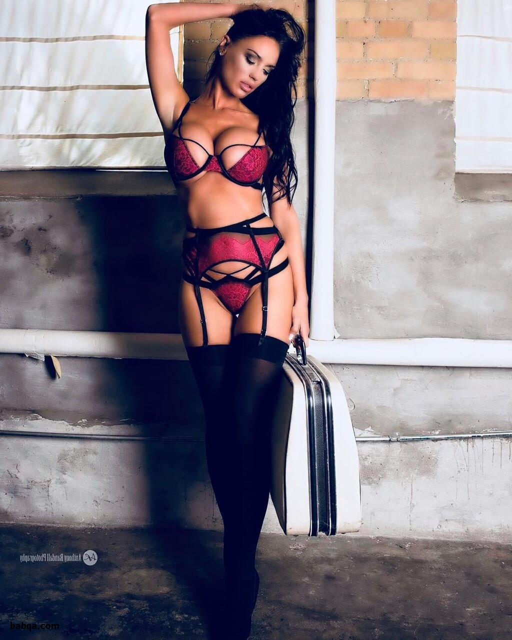sexy busty lingerie and black satin lingerie