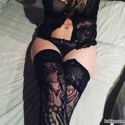 erotic lingerie photoshoot and crotch high stockings